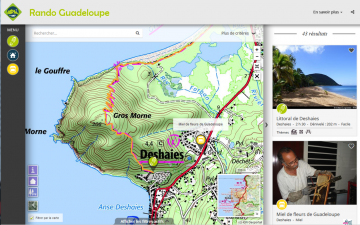 Page Rando Guadeloupe - Prestataires Esprit parc national